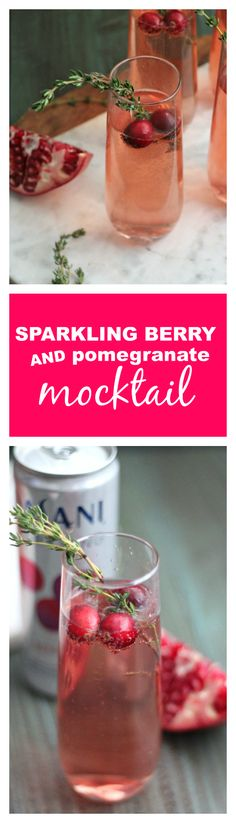 Sparkling Berry and Pomegranate Mocktail - Casa de Crews