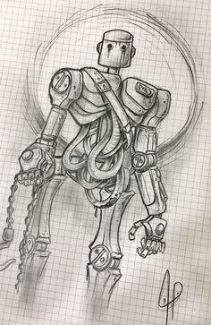 Alexbreak : ThreeA robot sketch