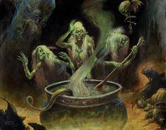 Stygian Witches ( aka Hags) by Brian LeBlanc Comic Art