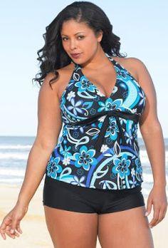 Danilalas World: Cute Swimsuits for Plus Size Women Plus Size Bikini Bottoms, Women's Plus Size Swimwear, Curvy Swimwear, Trendy Swimwear, Cute Swimsuits, Curvy Bikini, Mode Plus, Retro Stil, Moda Plus Size