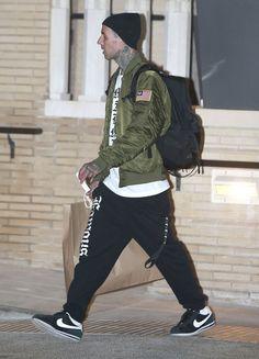 Travis Barker in the Nike Cortez