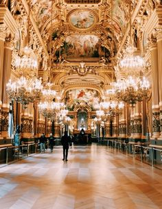 The Palais Garnier is one of the most famous opera houses in the world.