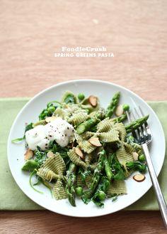 Spring Greens Asparagus and Ricotta Salad