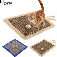 両面猫スクラッチボード付きシェルパボールおもちゃ、子猫難問マットパッドポストインタラクティブ玩具用ペットトレーニング