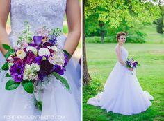 Purple Wedding Bouquet Inspiration // St Louis Golf Course Wedding Photography www.forthemomentphoto.com