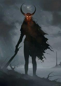 Dark evil concept