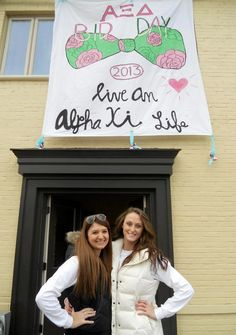 Alpha Xi Delta banner at Ohio University