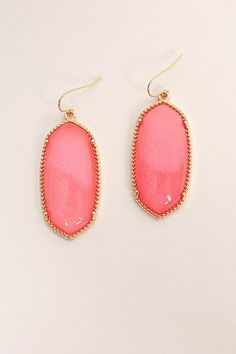 Baby You're Classic Dangle Earrings in Coral