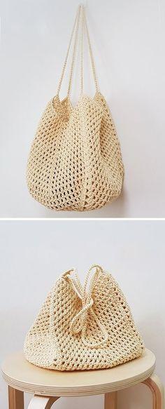 New And Stylish Free Crochet Patterns - Tasche - Häkeln Crochet Beach Bags, Bag Crochet, Crochet Market Bag, Crochet Diy, Crochet Motifs, Crochet Handbags, Crochet Purses, Crochet Crafts, Crochet Stitches