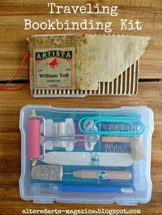 Traveling Bookinding Kit by Kimberly Jones alteredartsarts-magazine.blogspot.com