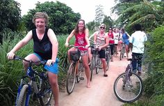 Cycling through scenic countryside. #Mekong #VietnamSchoolTours #Cycling