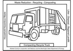 coloriage camion recyclage - Recherche Google