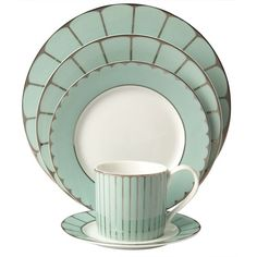 Pied a Terre Persia Jade dinnerware range (65 VEF) ❤ liked on Polyvore featuring home, kitchen & dining, dinnerware, filler, homediningmugs and cups, pied a terre, scalloped dinnerware and colored dinnerware