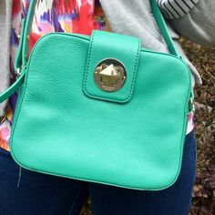 "Kate Spade Isla Chrystie Street in Verna NWT adorable Kate Spade cross body bag! It's the ""Isla Chrystie Street"" in ""verna,"" a rare color. The color is similar to teal. Make me an offer  kate spade Bags Crossbody Bags"