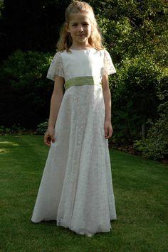 Custom Made Vintage Audrey Hepburn Inspired Tulle Lace Flower Girl ...