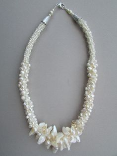 Pearl Kumihimo Necklace by NoGlitzNoGlory on Etsy