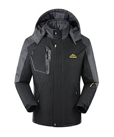 Jseo Men S Waterproof Mountain Jacket Raincoat Hooded Ski Https Www