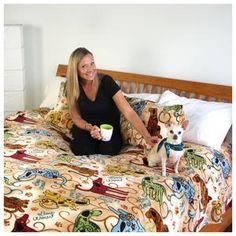 Super Cozy™ Fleece Festival Dogs Blanket
