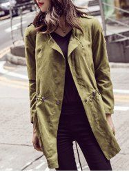 SHARE & Get it FREE | Lapel Drawstring Long Trench CoatFor Fashion Lovers only:80,000+ Items • New Arrivals Daily • Affordable Casual to Chic for Every Occasion Join Sammydress: Get YOUR $50 NOW!