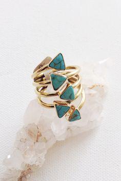 Cleobella Calixta Multi Turquoise Ring