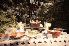 Where the wild things are themed table! Love it!