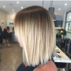 Short blonde balayage. Color by @hairbykaitlinjade #hair #hairenvy #haircolor #blonde #balayage ...