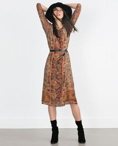 LONG PRINTED DRESS-New this week-Woman-COLLECTION AW15   ZARA United States