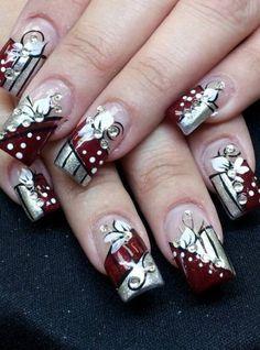 Day 260 red bling nail art nails magazine blinged out design Bling Nail Art, Floral Nail Art, Glitter Nail Art, Bling Nails, Red Nails, Nice Nails, Burgundy Nail Art, Classic Nails, Pretty Nail Art