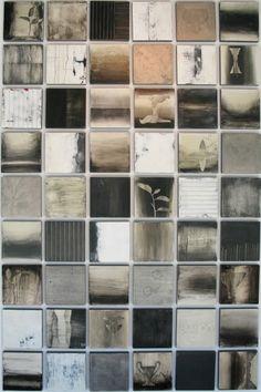 Collaboration of Kandy Lozano & Mark Rediske - Liaison2 2010 encaustic, oil on panel
