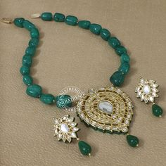 Hasibah Necklace + Earrings  by Indiatrend. Shop Now at WWW.INDIATRENDSHOP.COM