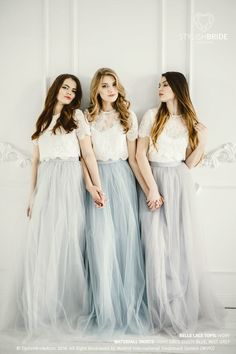618eab40959 Waterfall Rustic Grey Blue Green Palette Long Tulle Skirt Casual Floor  Women, Tulle Skirt Bridesmaids Tulle Skirt, Wedding Long Tulle Skirt