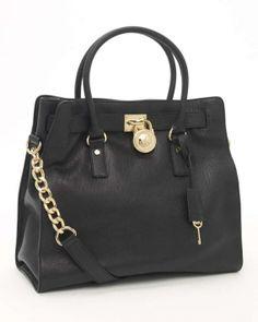 Michael Kors Hamilton Black Tote Bag $215
