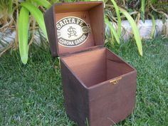 Wood Cigar Box Santa Fe Cigars Hinged with by MyLittleSomethings, $12.00