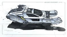 George Hull. Keywords: spinner flying automobile vehicle digital concept illustration design for th emovie blade runner 20498 by ...