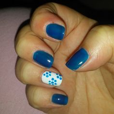 Blue With Flower Print