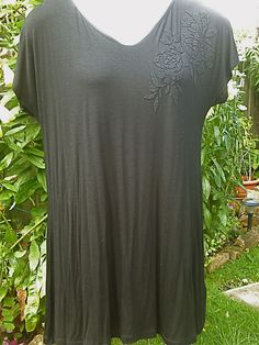 Ex~Evans Black Jewelled Tunic Top,Sizes 20 ,22/24, 26/28 and 30/32 NEW!