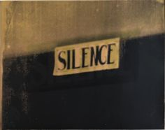 Christian Marclay Silence, 2006 silkscreen ink on paper, 23 ¼ x 28 ¾ in.