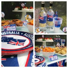 Australia Day Party inspriration - food buffet in backyard.