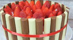 Duplo Torte mit Erdbeeren