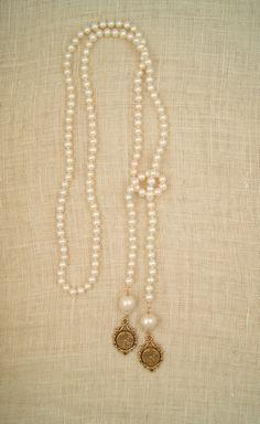 Zelda Pearl Necklace. $289. Ex Voto Vintage. -via Interior Canvas (GIVEAWAY)!!!