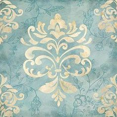 Damask I Cynthia Coulter Stencils, Damask Stencil, Stencil Patterns, Stencil Designs, Print Patterns, Motif Arabesque, Motif Floral, Decoupage Paper, Printable Paper