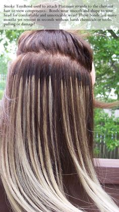 Bonded extensions for thin hair