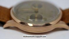Mechanischer Schweizer Chronograph 1950 Handaufzug 18 Karat Roségold- Spoon Rest, Chronograph, Gold, Tableware, Find Friends, Elevator, Swiss Guard, Wrist Watches, Dinnerware