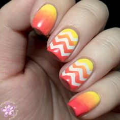 Amey Nails: OPI Brazil collection - Chevron gradient