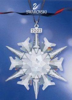 2002 SCS Member Swarovski Annual Snowflake ornament