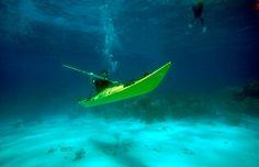 Underwater kayaking