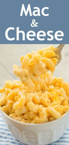 Quick and Easy Mac and Cheese!Easy, homemade creamy, mac and cheese made on the stovetop, a simple mac and cheese recipe without flour, and no roux required Homemade Mac And Cheese Recipe Easy, Quick Mac And Cheese, Stovetop Mac And Cheese, Mac Cheese Recipes, How To Make Cheese, Easy Cheese, Baked Mac And Cheese Recipe Without Flour, Easy Mac And Cheese Recipe No Flour, Noodles Mac And Cheese Recipe
