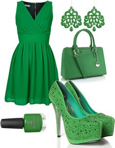 """Formal St. Patty's Day"" by naterie on Polyvore"