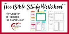 This Key Worksheet can be used for a Bible Chapter or passage. The SOAP method (Scripture, Observation, Application, and Prayer) is a great way to study but I wanted more depth so I made this worksheet to include Key People, Key Subject, Key Words (Inductive), Application, and Conclusion. Bible Journal Key Worksheet Bible study should …Read more...