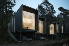 Tallbacken is a new Scandinavian housing concept located in the forest outside of Stockholm. The concept is aimed at couples and families of mixed ages who want to live close to nature, but still around the city. What unites them are a common lifestyle th…